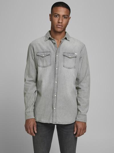 JACK & JONES Hemd 'HERIDAN' in grau / grey denim: Frontalansicht