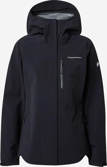 PEAK PERFORMANCE Zunanja jakna 'Xenon' | črna / bela barva, Prikaz izdelka