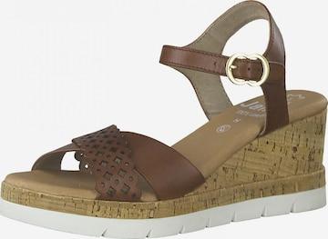 JANA Sandale in Braun