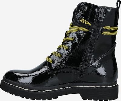 TOM TAILOR DENIM Snørestøvletter i citrongulv / sort, Produktvisning