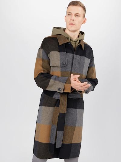 ANTONY MORATO Abrigo de entretiempo en mostaza / gris / negro, Vista del modelo