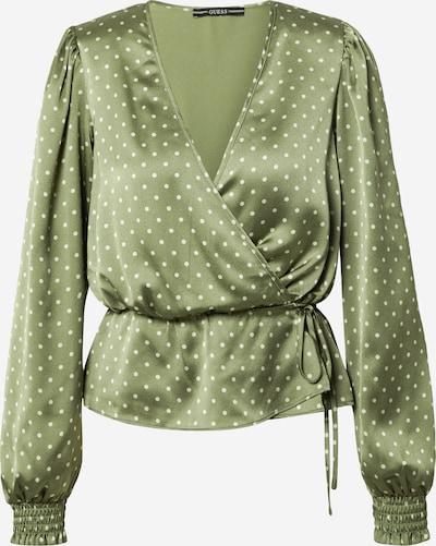 GUESS Blusa en oliva / blanco, Vista del producto