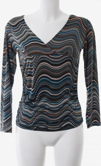 Bea Tricia V-Ausschnitt-Shirt in S in türkis / braun / schwarz, Produktansicht