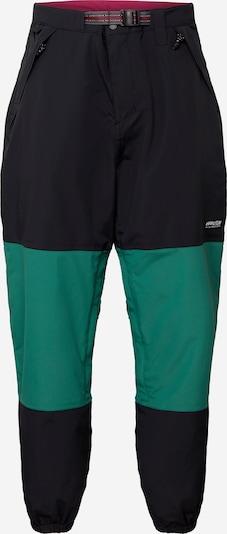QUIKSILVER Udendørs bukser 'BEATER' i grøn / sort: Frontvisning