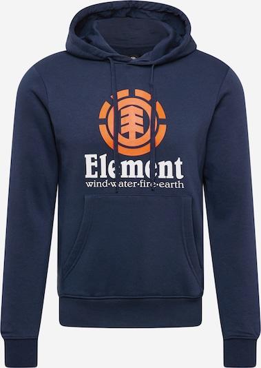 Bluză de molton ELEMENT pe bleumarin / portocaliu deschis / alb, Vizualizare produs
