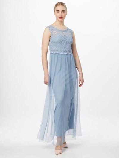 VILA Vestido de noche 'LYNNEA' en azul ahumado, Vista del modelo