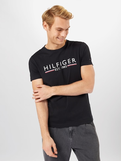 piros / fekete / fehér TOMMY HILFIGER Póló: Elölnézet