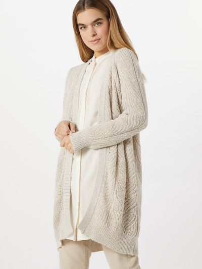 OBJECT Cardigan in beige, Modelansicht