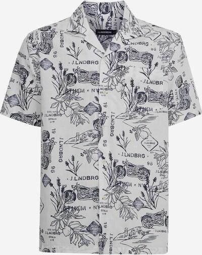 J.Lindeberg Overhemd 'Bob' in de kleur Navy / Wit, Productweergave