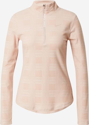 NIKE Functioneel shirt in de kleur Pastelroze / Wit, Productweergave