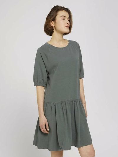 TOM TAILOR DENIM Jerseykleid in pastellgrün, Modelansicht