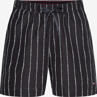 TOMMY HILFIGER Badeshorts in navy / rot / schwarz / weiß, Produktansicht