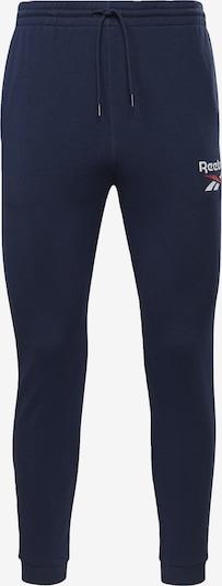 REEBOK Sportbroek in de kleur Navy / Lichtrood / Wit, Productweergave