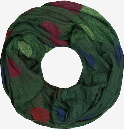 IZIA Loop scarf in blue / green / pastel green / rusty red, Item view