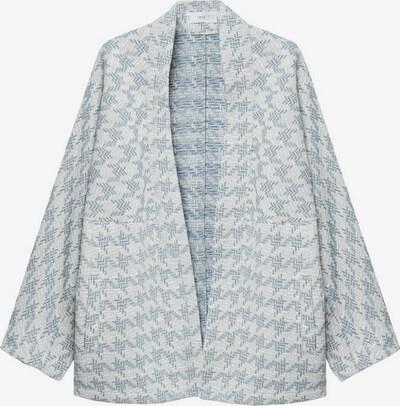 MANGO Gebreid vest 'Kim' in de kleur Pastelblauw / Wit, Productweergave
