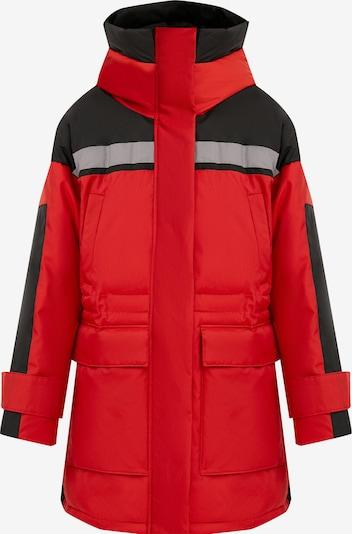 Finn Flare Wintermantel in rot / schwarz, Produktansicht