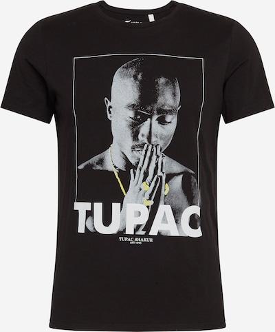 Q/S designed by Shirt in grau / schwarz / weiß, Produktansicht