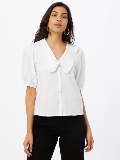 Soft Rebels Blouse 'Dana' in de kleur Wit, Modelweergave