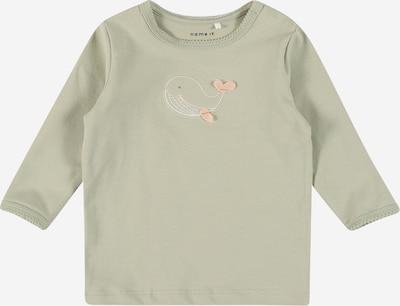 Tricou 'FELIZIA' NAME IT pe verde / portocaliu pastel / alb, Vizualizare produs