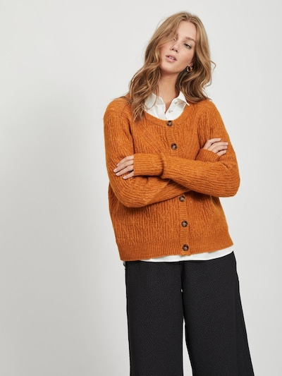 VILA Strickjacke in orange, Modelansicht