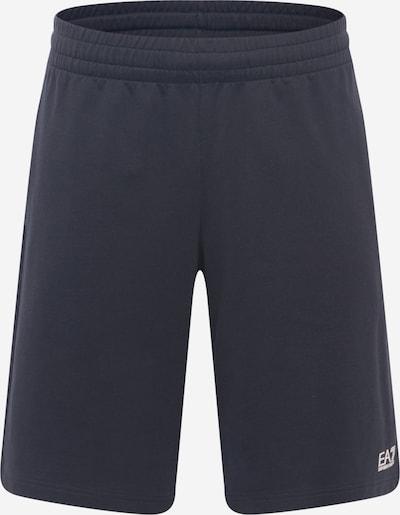 Pantaloni EA7 Emporio Armani pe albastru porumbel / alb, Vizualizare produs