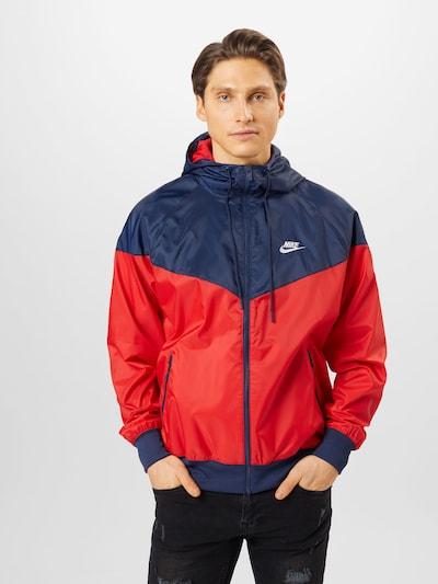 Nike Sportswear Tussenjas in de kleur Navy / Rood / Wit: Vooraanzicht