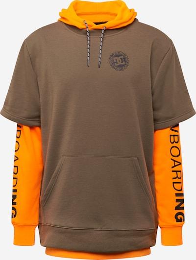 DC Shoes Sportsweatshirt 'Dryden' in braun / orange, Produktansicht