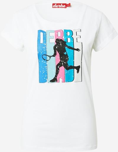Derbe T-Shirt in mischfarben / weiß, Produktansicht