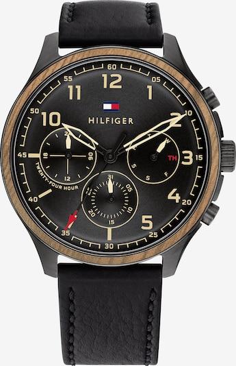 TOMMY HILFIGER Zegarek analogowy w kolorze brązowy / złoty / czerwony / czarnym, Podgląd produktu