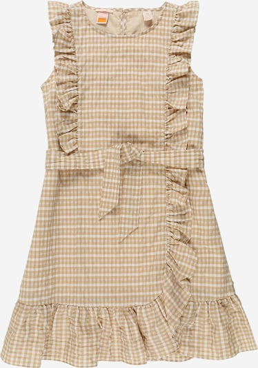 SCOTCH & SODA Kleid in beige / karamell / weiß, Produktansicht