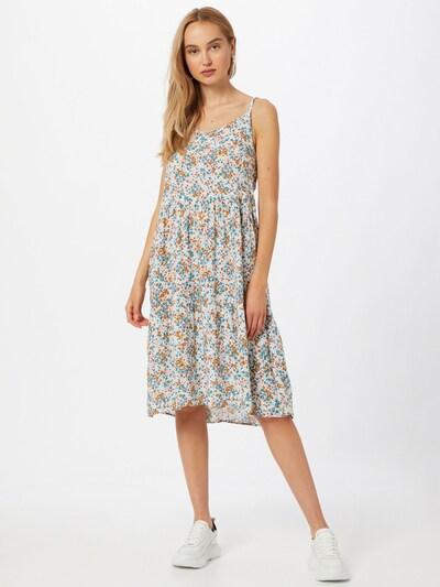 Trendyol Kleid in blau / hellblau / pastellgelb / orange / weiß, Modelansicht