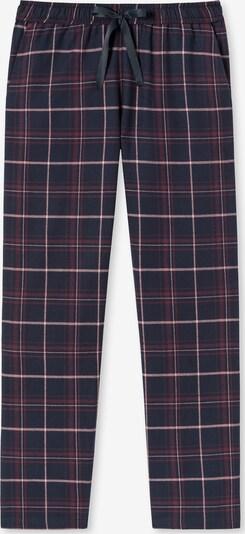 SCHIESSER Pyjamahose ' Mix+Relax ' in dunkelblau / rot, Produktansicht