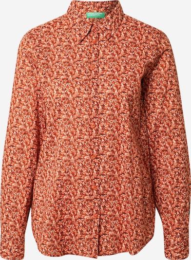Camicia da donna UNITED COLORS OF BENETTON di colore blu scuro / arancione scuro / bianco, Visualizzazione prodotti