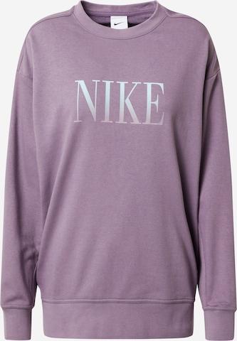 NIKE Athletic Sweatshirt in Purple