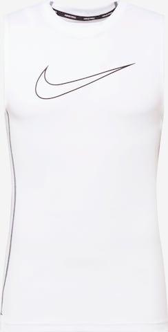 T-Shirt fonctionnel NIKE en blanc