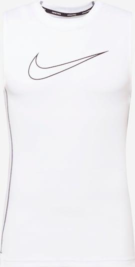 Tricou funcțional NIKE pe negru / alb murdar, Vizualizare produs