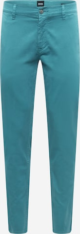 BOSS Casual Chinobyxa i blå