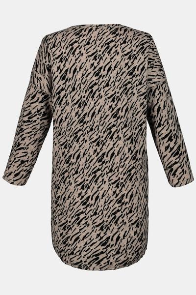 Gina Laura Damen Jerseykleid in hellbraun / schwarz, Produktansicht