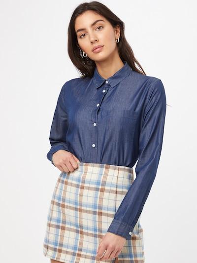 Superdry Bluse in blau, Modelansicht