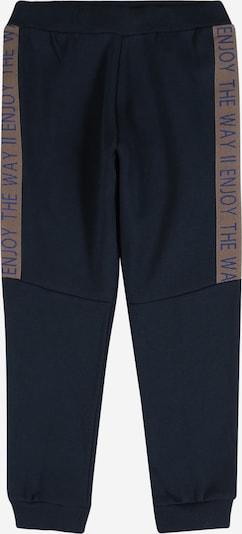 NAME IT Broek 'NIK' in de kleur Donkerbeige / Navy / Royal blue/koningsblauw, Productweergave