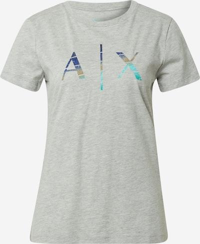 ARMANI EXCHANGE T-Shirt '3KYTKK' in türkis / dunkelblau / graumeliert, Produktansicht
