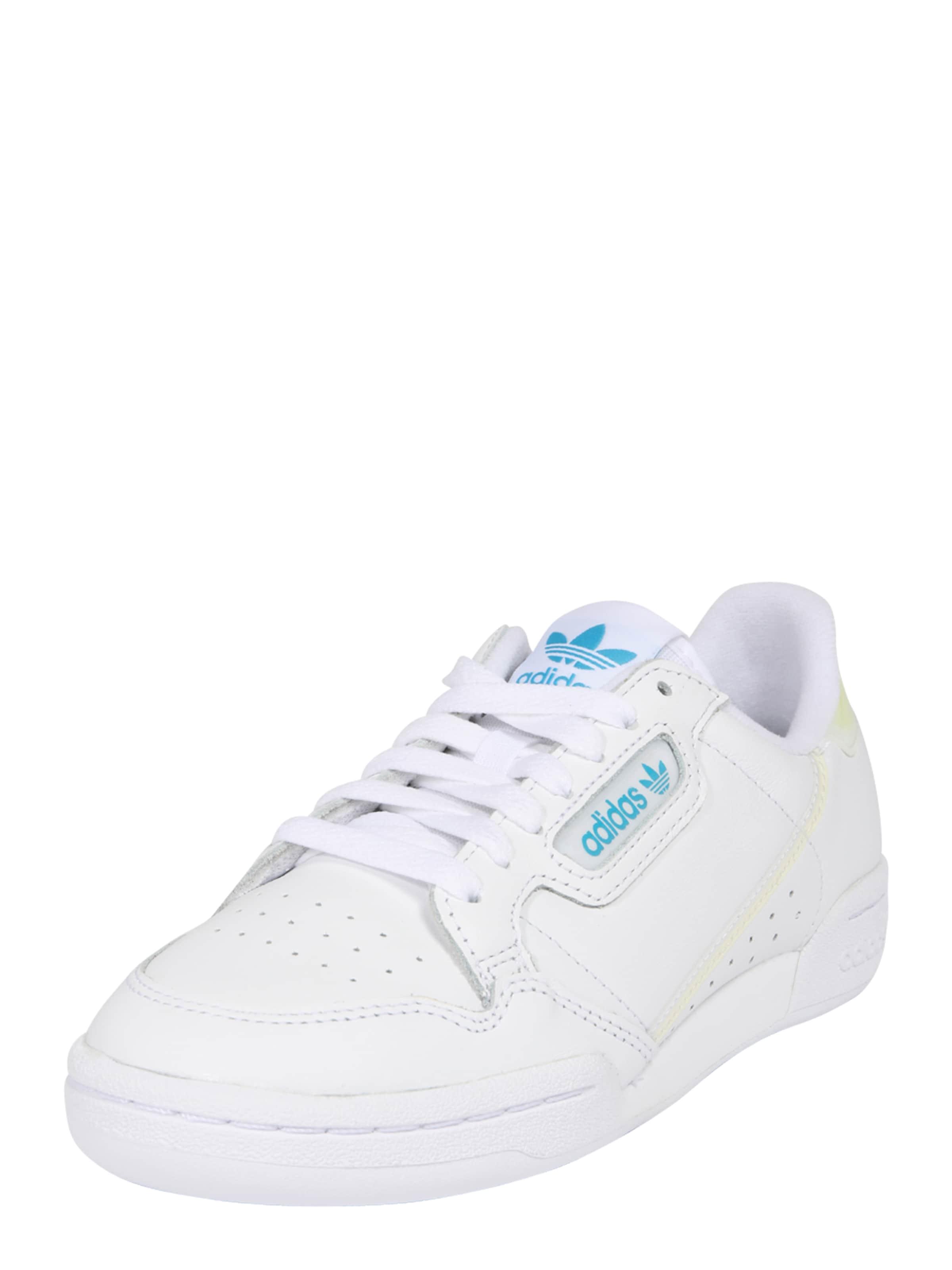 ADIDAS ORIGINALS Låg sneaker 'Continental 80' i ljusblå / gul / vit