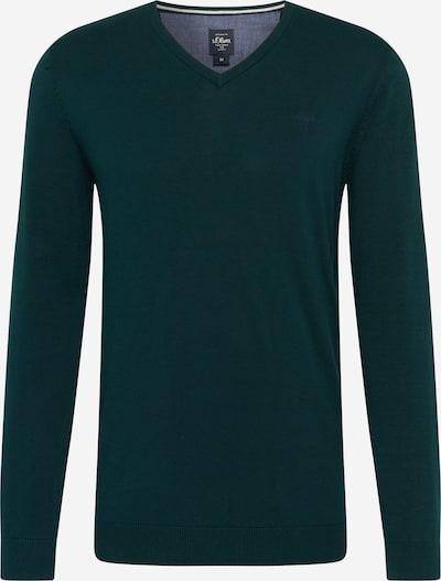 s.Oliver Pull-over en vert foncé, Vue avec produit