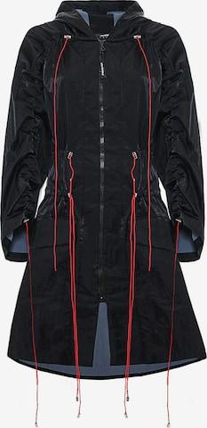 MONOSUIT Outdoor Coat 'DRAIN' in Black