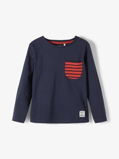 NAME IT Shirt 'Bomal' in navy / knallrot, Produktansicht