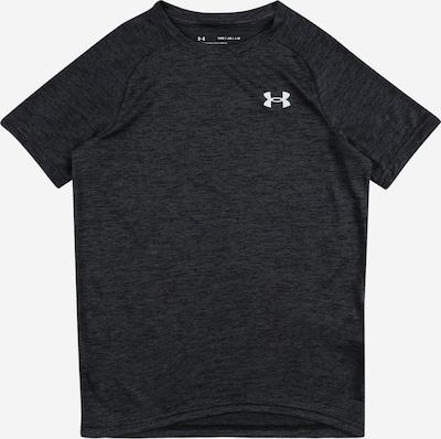 UNDER ARMOUR T-Shirt fonctionnel en noir chiné / blanc, Vue avec produit