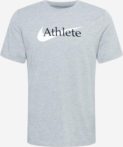 NIKE Functioneel shirt in de kleur Lichtgrijs / Zwart / Wit, Productweergave