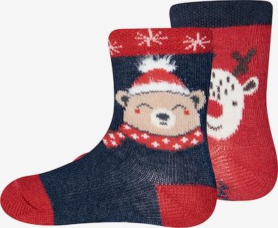 Kojinės iš EWERS , spalva - mėlyna / raudona, Prekių apžvalga