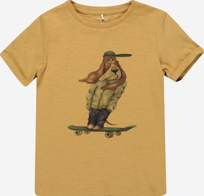 NAME IT Camiseta 'DRAN' en azul oscuro / marrón / marrón claro / verde oscuro / negro, Vista del producto