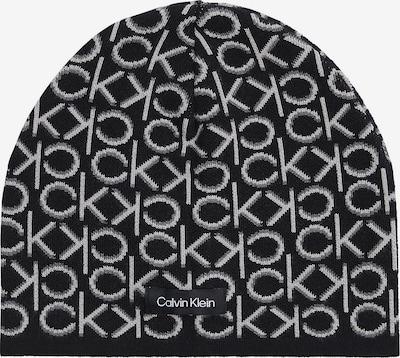 Calvin Klein Bonnet en gris / noir / blanc, Vue avec produit